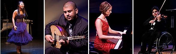 比赛名称:2014年美国肯尼迪艺术中心残疾人国际青少年音乐家比赛 比赛介绍 : 每年一届的肯尼迪艺术中心残疾人国际青少年音乐家比赛旨在发现那些身患残疾的杰出青少年音乐家,支持并鼓励他们勇敢的追求音乐生涯。由国际著名音乐家组成的评委将对选手的演出进行评估。比赛面向世界各地年龄在14-25岁的参加人音乐家开放,可以为任何乐器独奏或声乐独唱,也可以是2-5人的乐队等。比赛接受各种类型的音乐家报名,包含但不仅仅限于古典音乐、爵士音乐、嘻哈音乐、摇滚/另类音乐、流行音乐、独立音乐、蓝草音乐、民族音乐、乡村音乐、R