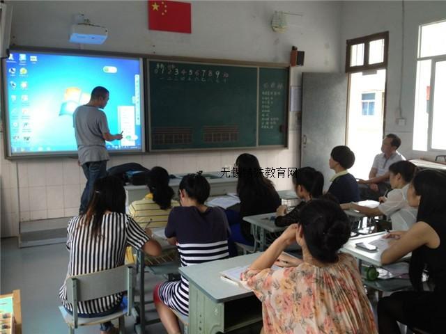 锡山特校:成功安装电子白板